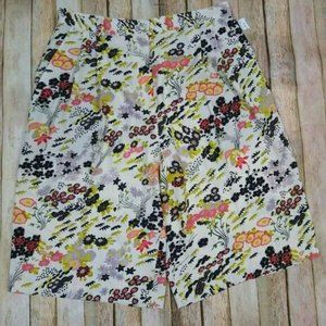 Topshop Idol Slouch Leaf Print Pleated Shorts